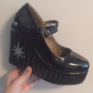 TUK x Lux de Ville patent leather heels
